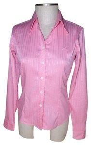 Lilly Pulitzer Tonal Stripe Button Down Shirt Pink