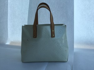 Louis Vuitton Retired Patent Leather Satchel in Perle White