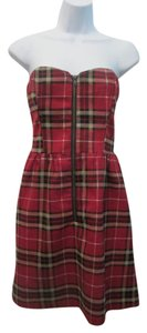 short dress Red Flannel Plaid on Tradesy