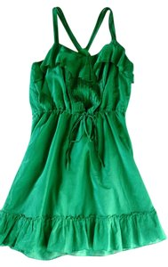 Sugarlips short dress Green Pleated Ruffle Sun Drawstring Waist Empire Waist on Tradesy