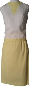 Other short dress White/Sunny Yellow 60s Mint Condition Linen Gay Gibson on Tradesy