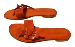 L'Artigiano del Cuoio Color Chic Design Arancio Sandals