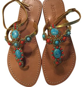 Mystique Boutique Gold/multy Sandals