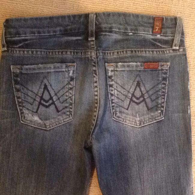 7 For All Mankind Boot Cut Jeans-Distressed Image 4