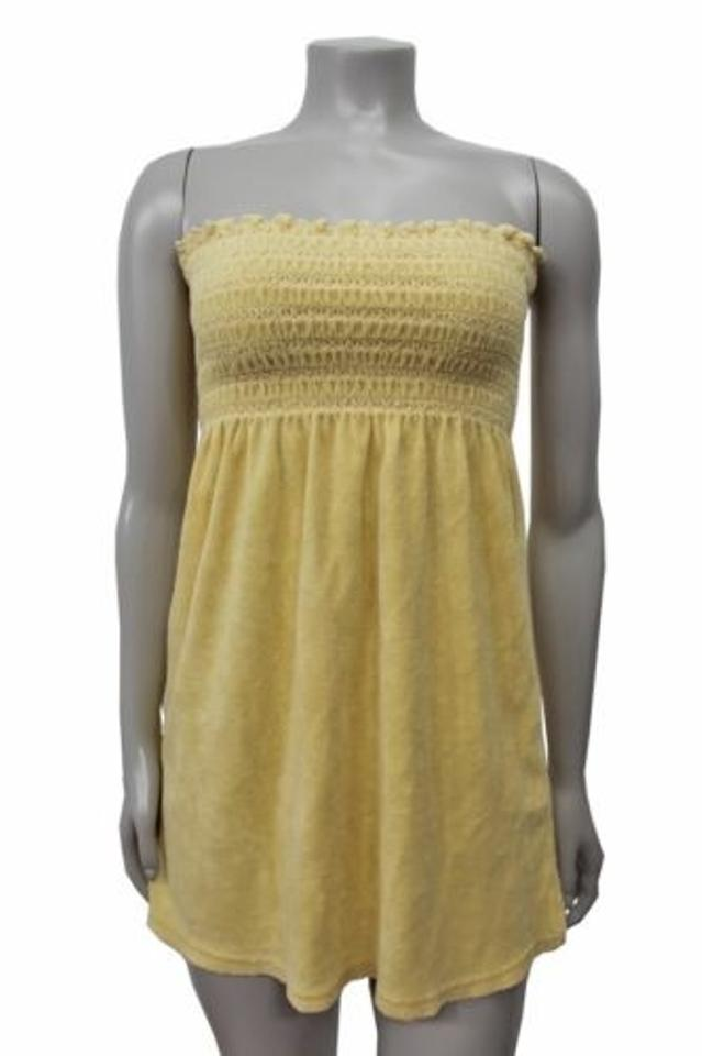 b96d04b14aa8 Juicy Couture Classic Terry Smocked Tube Top Yellow Image 0 ...