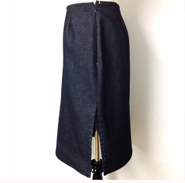 Michael Kors Pencil Fitted Metallic Grey Knee Length Office Business Skirt Charcoal