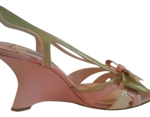 Prada pink and green Sandals