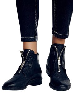 A.S. 98 Edison Ankle Size 6 / Eu 36 Leather Sale Black Boots