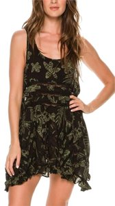 Free People short dress dark green combo on Tradesy