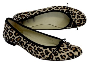French Sole Leopard Print Hair Ballet Flats