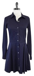 Theory short dress Navy Button Down Long Sleeve on Tradesy