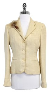 Ralph Lauren Gold Linen Suit Jacket