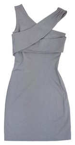 Halston short dress Grey One Shoulder Bodycon on Tradesy