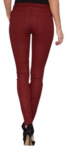 Joie Skinny Coated Red Skinny Jeans-Coated