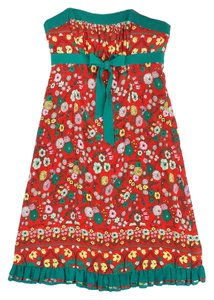 Plenty by Tracy Reese Red & Green Floral Dress