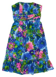 Plenty by Tracy Reese short dress Blue Pink Floral on Tradesy