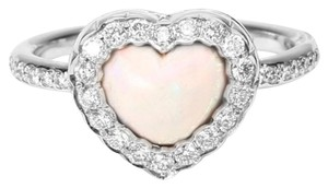 Dior 18K White Gold Diamond Heart Ring