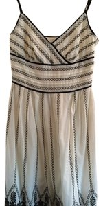 Ann Taylor Embroidered Spaghetti Strap Dress