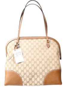 Gucci Bree Dome Satchel in Brown