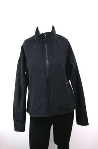 Obermeyer Monaco Softshell Ski Front Zip Zip Black Jacket