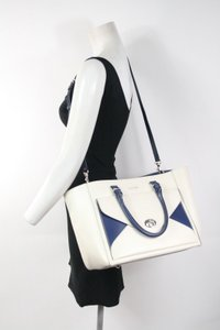 Nardelli Navy Blue Beige Satchel in blue, cream
