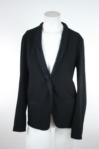 Eileen Fisher Eileen Fisher Black Long Jacket Blazer Semi Sheer Collar