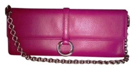 Preload https://img-static.tradesy.com/item/154626/ann-taylor-with-silver-chain-solid-ring-magnetic-closure-fuschia-pink-leather-clutch-0-0-540-540.jpg