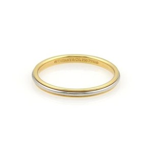 Tiffany & Co. Tiffany Co. Platinum 18k Yellow Gold 2mm Wide Wedding Band Ring