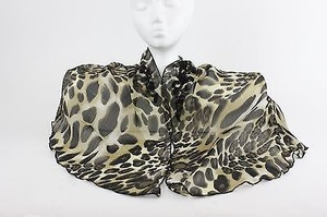 Collection Eighteen Collection Eighteen Triangular Black Olive Animal Embroidered Shawl B202
