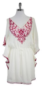 Faith Connexion short dress Cream & Pink Embroidered on Tradesy