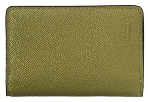 Coach Coach Card Wallet in Crossgrain Leather Moss Green 75064 NWT