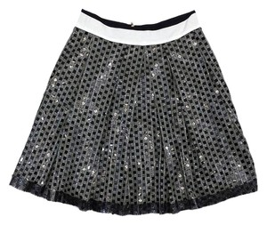 Rozae Nichols Black Light Olive Sequined Skirt