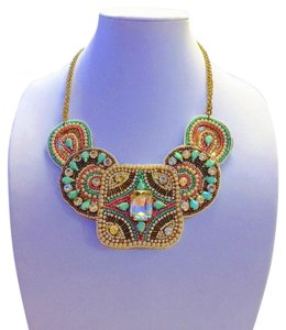 Other Beaded Rhinestone Statement Necklace