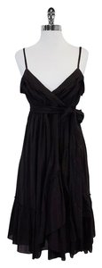 Diane von Furstenberg Black Cotton Spaghetti Strap Dress