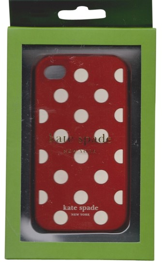 Kate Spade Kate Spade Silicone Red Brick with White Polka Dot Case Cover iPhone 4/4S