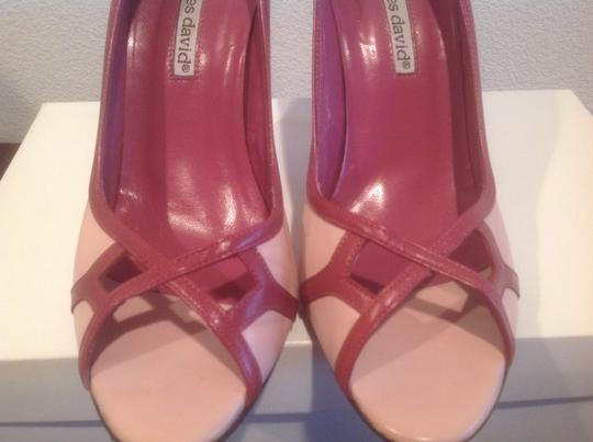 Charles David All Leather Pink Sandals