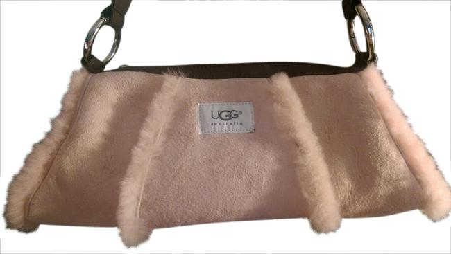 Item - Small Light Pink and White Soft Suede Fur Satchel