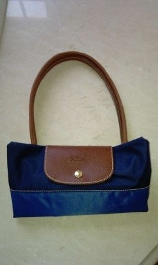 Longchamp Tote in Navy/Royal/Lt. Blue