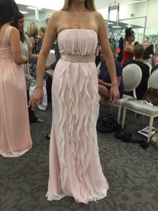 Vera Wang Pink Blush Chiffon Feminine Bridesmaid/Mob Dress Size 6 (S)