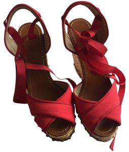 Dolce&Gabbana Red Rosso 89902 Wedges