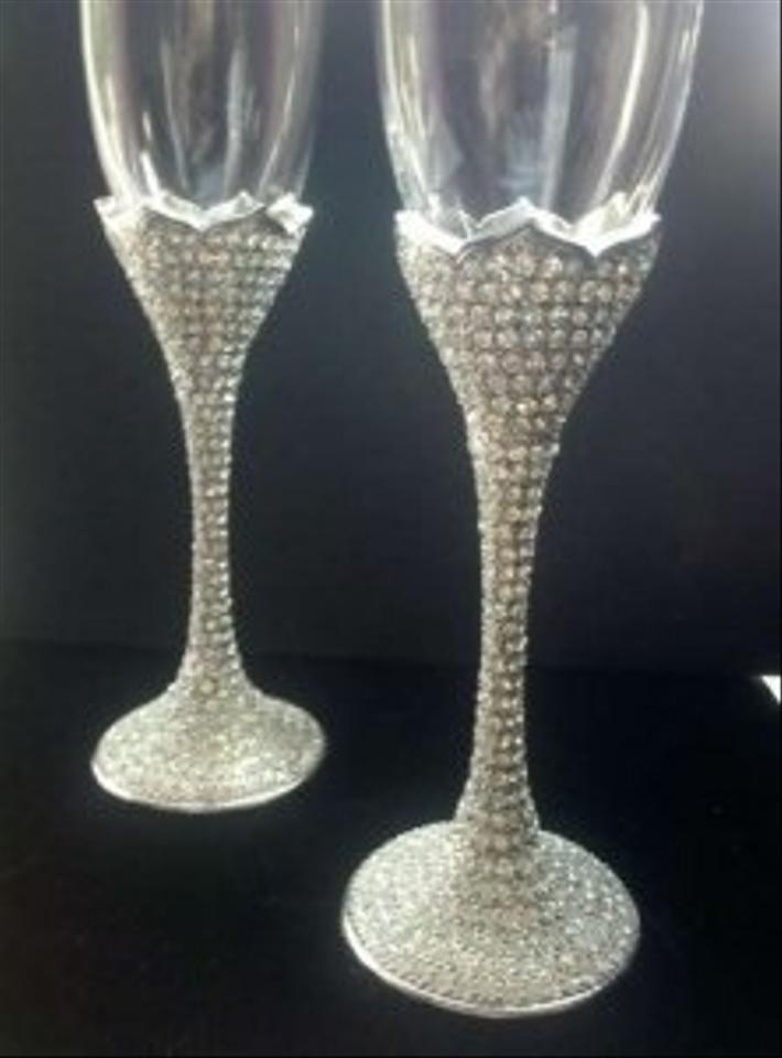 Things Remembered Rhinestone Amp Crystals Champagne Flute
