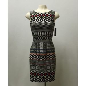 AGB Geometric Wear To Work Office Dress
