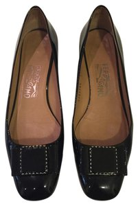 Salvatore Ferragamo Flat Patent Leather Black Flats