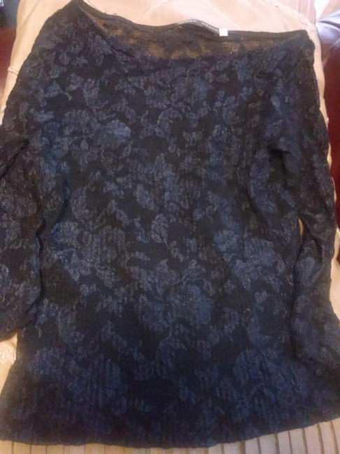 Item - Midnight Blue Lacy Tunic Size 6 (S)