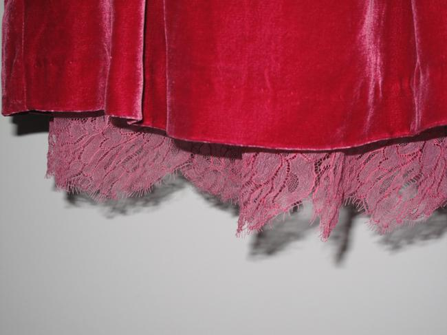 Tracy Reese Velvet New York Lace Full Skirt Magenta/Red