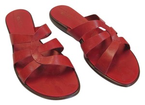 Azaleia Size 8.00 M Leather Very Good Condition Red, Sandals