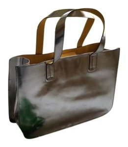 Boden Dust Magnetic Closure Tote in Silver