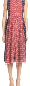 Diane von Furstenberg short dress Navy/Pink Nieves Floral Print on Tradesy