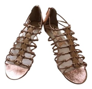 Boutique 9 Zips At Heels Never Worn Metallic Light Pink Sandals