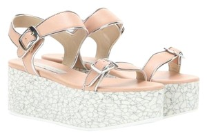 Stella McCartney Beige and Silver Wedges
